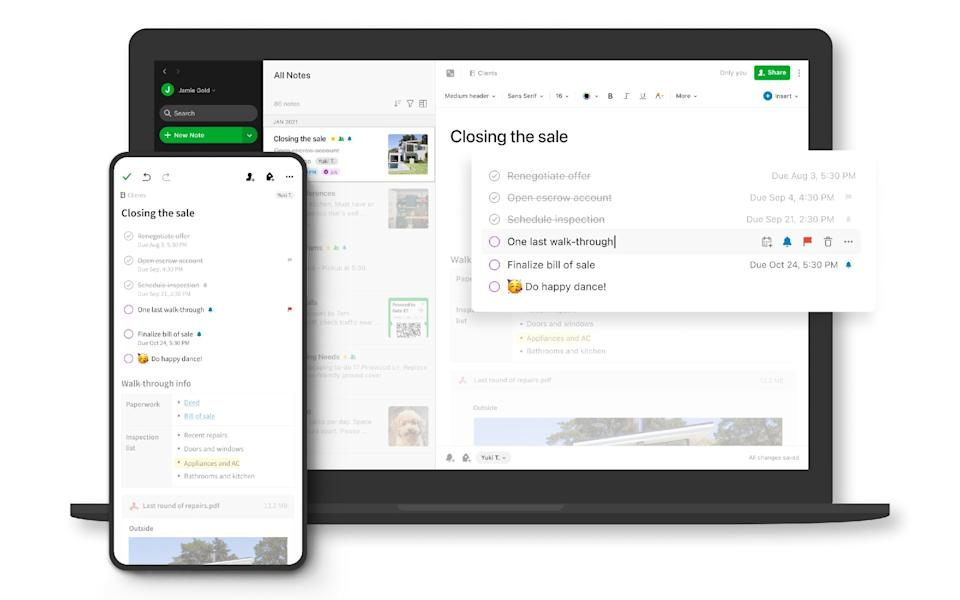 Evernote's task management feature arrived to take Trello