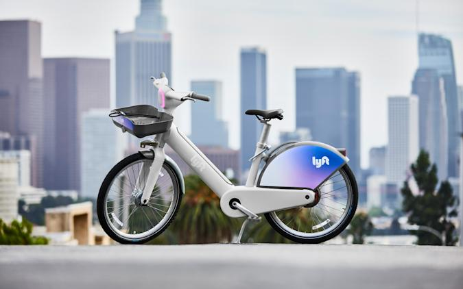 Lyft's first in-house ebike reflects light like a road sign