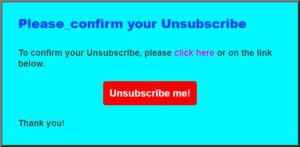 Unsubscribe from this email can simply lead to other spam