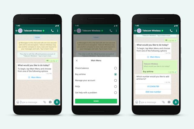 WhatsApp makes it easy and faster to chat with business